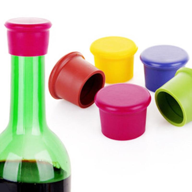 1pc Silicone Wine Stoppers Leak Free Wine Bottle Sealers For Red Wine And Beer Bottle Cap Candy-Colored Kitchen Useful Tools 45