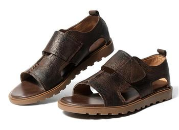 Summer Fashion Genuine Leather Hook & Loop Leather Sandals Male Sandals Casual Shoes Outdoor Shoes for Men