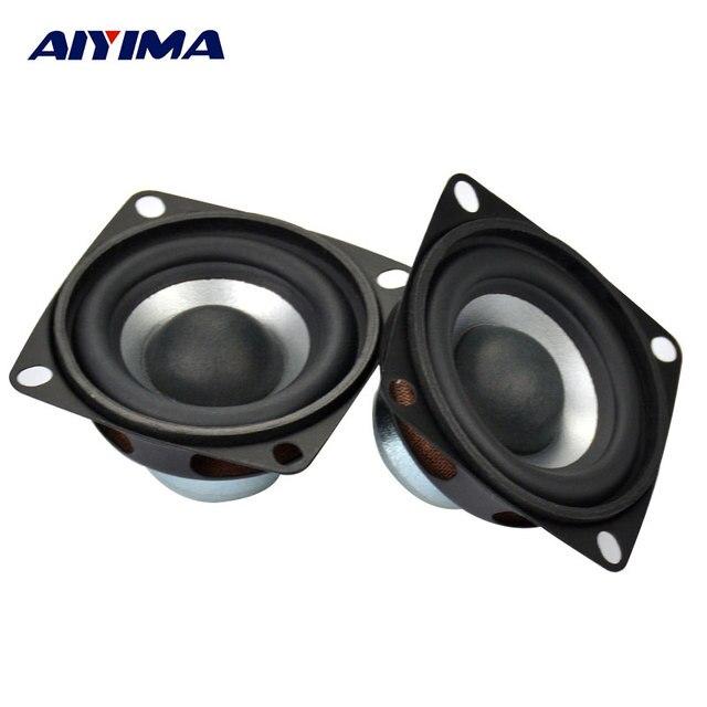 AIYIMA 2 adet 2 inç ses taşınabilir hoparlörler tam aralıklı hoparlör 4Ohm 12W DIY Stereo HiFi boynuz hoparlör ev sineması aksesuarları