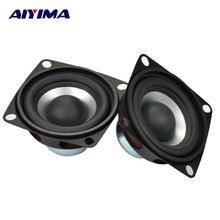 Aiyima 2 pçs Polegada alto falantes portáteis de áudio gama completa alto falante 4ohm 12w diy estéreo alta fidelidade chifre altifalante acessórios do teatro em casa