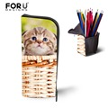 Novelty Children Kids Pencil Case Cat Printing Women Make Up Bag Storage Makeup Pouch Simple Girls Cosmetic Pouch High Quality