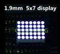 1.9 MM 5X7 display led AZUL ânodo Comum LED Dot Matrix Digital Módulo Tubo digital de 5*7 tubo