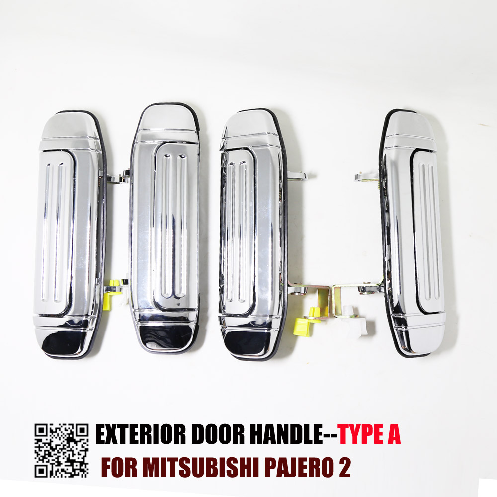 Chrome <font><b>Door</b></font> <font><b>Handle</b></font> for <font><b>Mitsubishi</b></font> Pajero 2 Accessories V31 V32 V33 V43 V44 V45 V46 1991-1999 1996 1998 1992 image