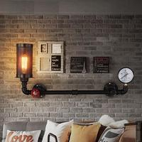 Retro Loft Style Water Pipe Lamp Edison Wall Sconce Antique Wall Light Fixtures For Indoor Vintage Industrial Lighting|Wall Lamps|Lights & Lighting -