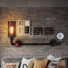 Retro Loft Style Water Pipe Lamp Edison Wall Sconce Antique Wall Light Fixtures For Indoor Vintage Industrial Lighting(China)