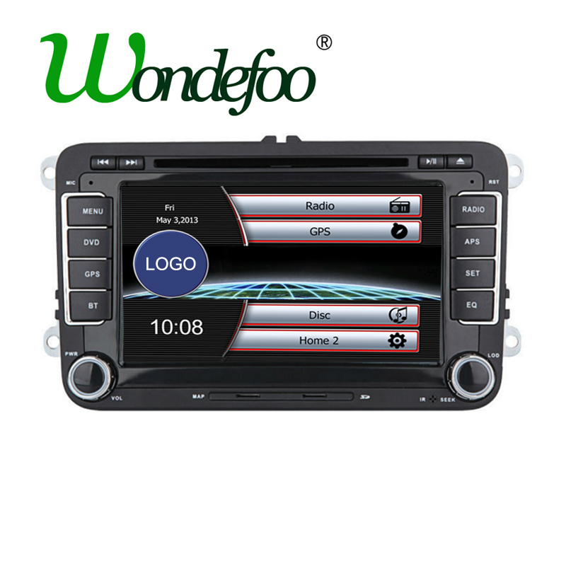 2 din car dvd gps radio stereo for vw golf 4 golf 5 6. Black Bedroom Furniture Sets. Home Design Ideas