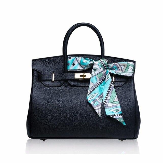 Luxury Designer Bags Real Leather Women tote  Handbags Woman Famous Brands  High Quality Bolsas Feminina 2018