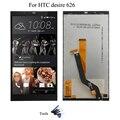 Preto Para HTC Desire Exibição 626 LCD + Touch Screen com Digitador Assembléia Completa + Ferramentas Abertas, frete grátis