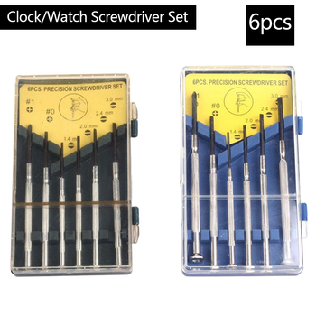 6pcs Precision Multifunction Mini Small Screwdriver Set with Slotted Phillips Bits for Watch Glasses Screw driver Repair Tools Screwdriver