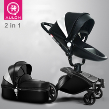 Big Discount Leather High quality Baby Stroller High view Suspension Bidirectional Folding Sit Lie down