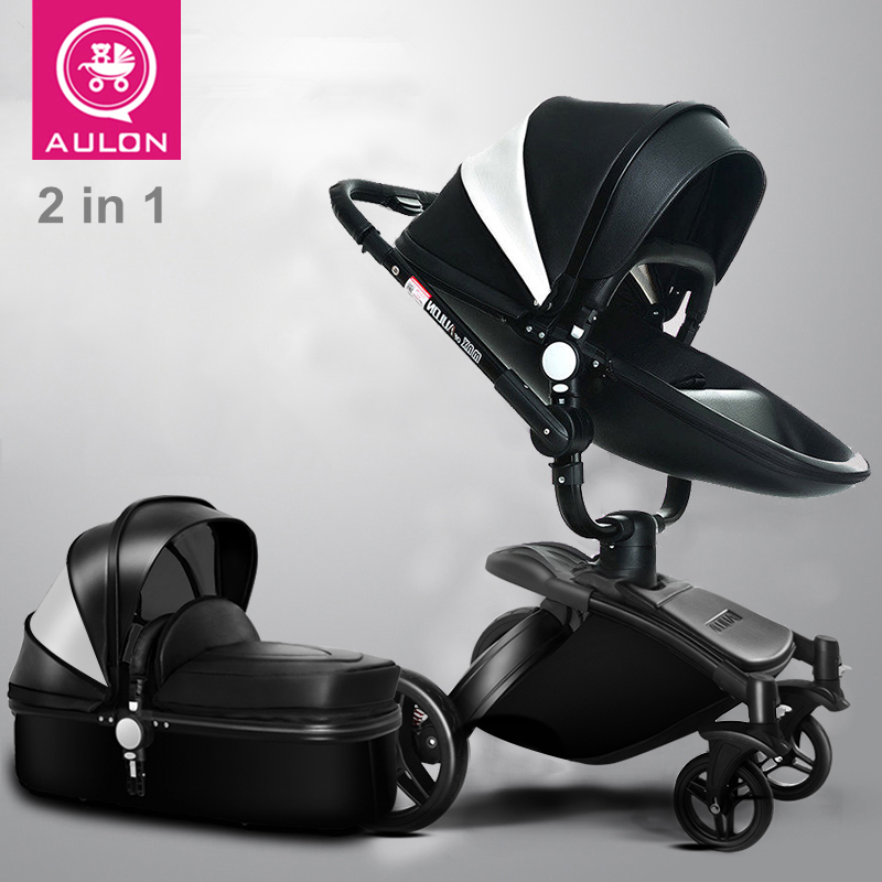 Leather, High-quality, Baby Stroller, High-view, Suspension, Bidirectional, Folding, Sit & Lie down. toyfa анальная цепочка для анальной стимуляции