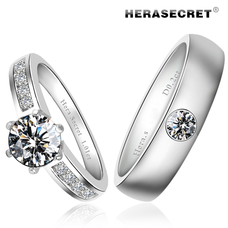 Perfect Pole Top Fangzuan Flash Ring Couple Rings Wedding Engaged Couples Gift Packagingfree Ship In From Jewelry Accessories On Aliexpress