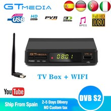 Venda quente Receptor de Satélite TV Gtmedia V7S HD Apoio Receptor Europa cccam cline para Espanha DVB-S2 Decodificador de Satélite Freesat V7