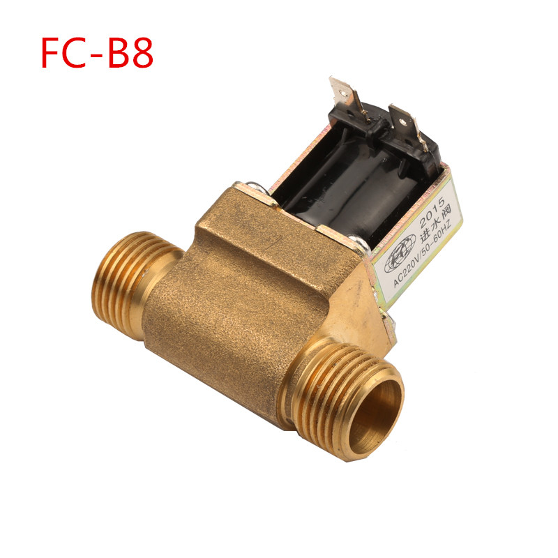 FC-B8 20mm Thread Water Heater Water Inlet Valve Solenoid Valve Fittings Full-automatic Washing Machine Inlet Valve Switch universal washing machine inlet valve water filter parts single general washer water inlet valve replacement small appliance