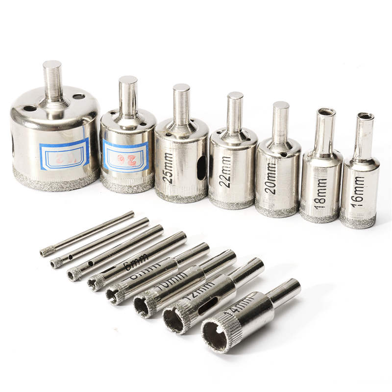 15pcs/set Marble Drill Bits 3mm-42mm Diamond Hole Saw Cutter Tool for Marble Tile Ceramic Glass Hot Sale 4 pieces tungsten carbide glass drill bits for ceramic tile marble mirror 6mm 8mm 10mm 12mm