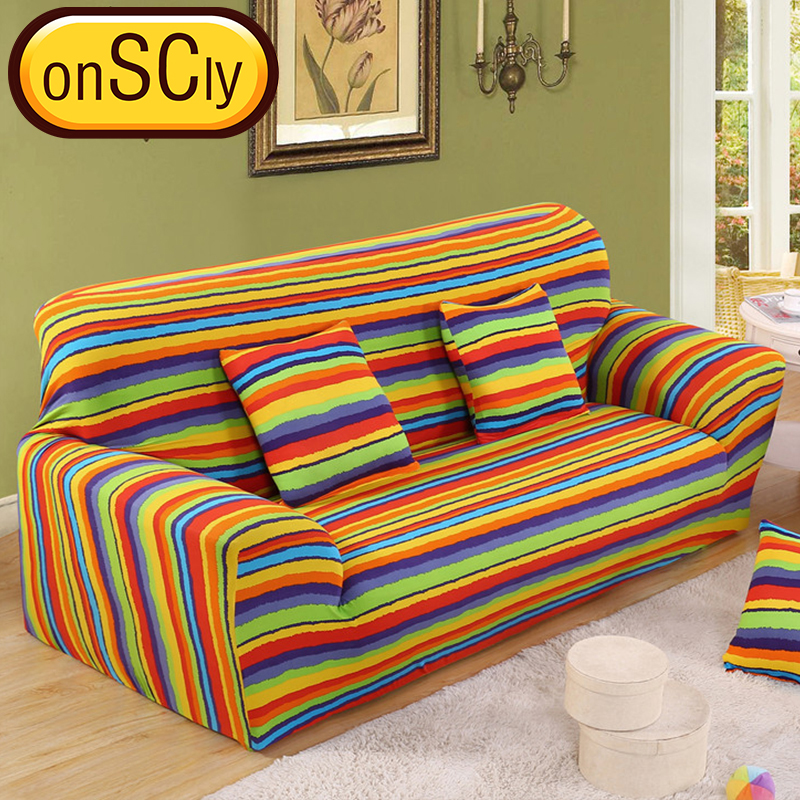 US $16.65 50% OFF|Rainbow Protector Sofa Cover Sofa Slipcover Furniture  Couch Cover For Sofa Covers For Living Room Corner Sofa Cover Elastic-in  Sofa ...