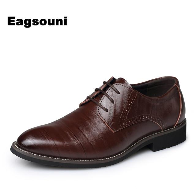 Zapatos marrones de otoño formales Eagsouni para hombre nN9du6kE