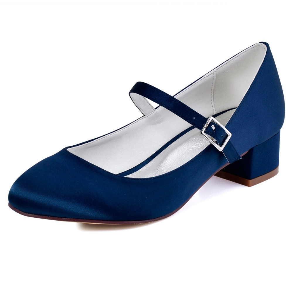 Bridal Shoes Low Heel Closed Toe