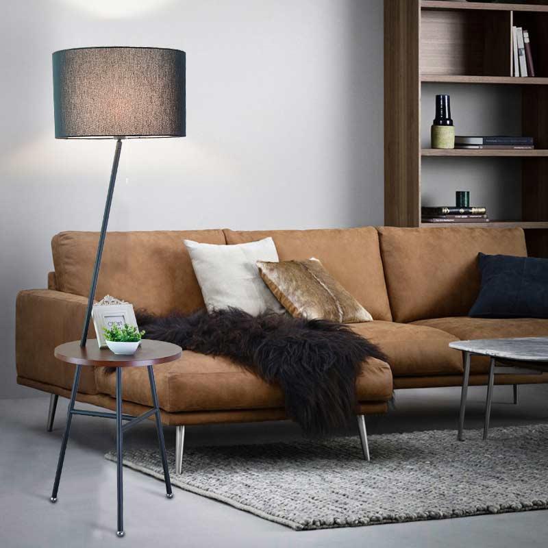 modern wood table floor lamp 5w led bulb living room