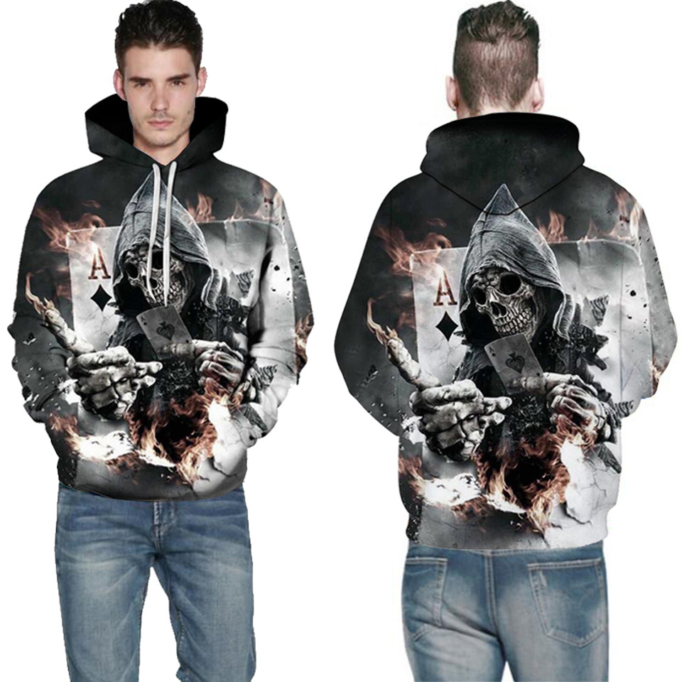 Wolf Printed Hoodies Men 3D Hoodies Brand Sweatshirts Boy Jackets Quality Pullover Fashion Tracksuits Animal Street wear Out Coat 135