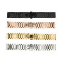 Ot01 16 20 22mm Stal Zegarek Zespół Metalowy Pasek Watchband Opaski dla moto 360 2 2nd gen man/lg urbane/czas stali żwirowa