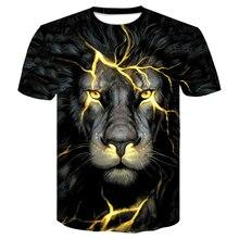 Newest 2019 3d tshirt printed mens shir tee shirt film lion Wolf Cool T-shirt Men/Women Short Sleeve Summer Tops Tees Fashion