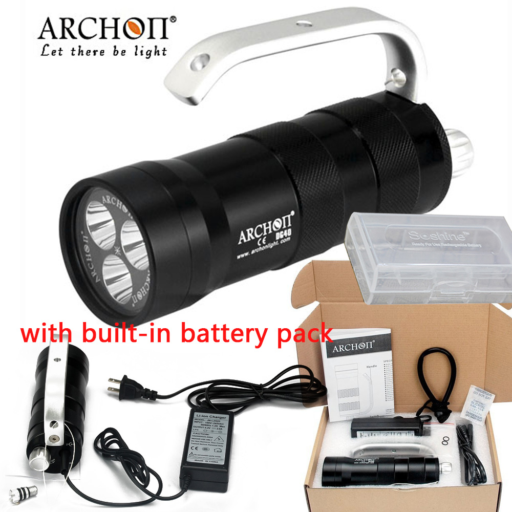 ARCHON WG46 DG40 Diving light 3 CREE XM-L2 U2 LED max 2000 lumen underwater 100 meter spot Flashlight +battery pack and charger frank fabozzi j capital budgeting theory and practice