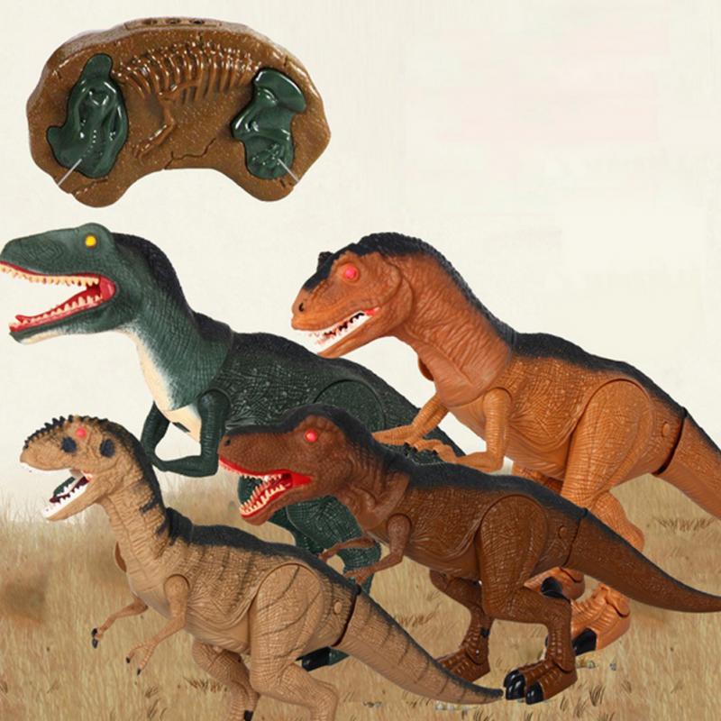 Infrarouge RC Électronique animaux Télécommande Dinosaure Jouets avec Secouant La Tête Lumière dans Les Yeux et Sons