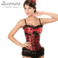 Red Lace-up Corsage Court Shaper Women Sexy  Lingerie  Erotic Top Corsets Bodice  Bustier Dress Shapewear Bodysuit Waste Trainer