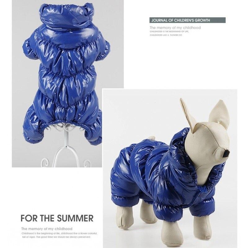 Новинка, супертолстая ветрозащитная зимняя одежда большого размера для маленьких собак, комбинезон, теплое пальто для собаки, куртка, лыжный костюм, одежда-3
