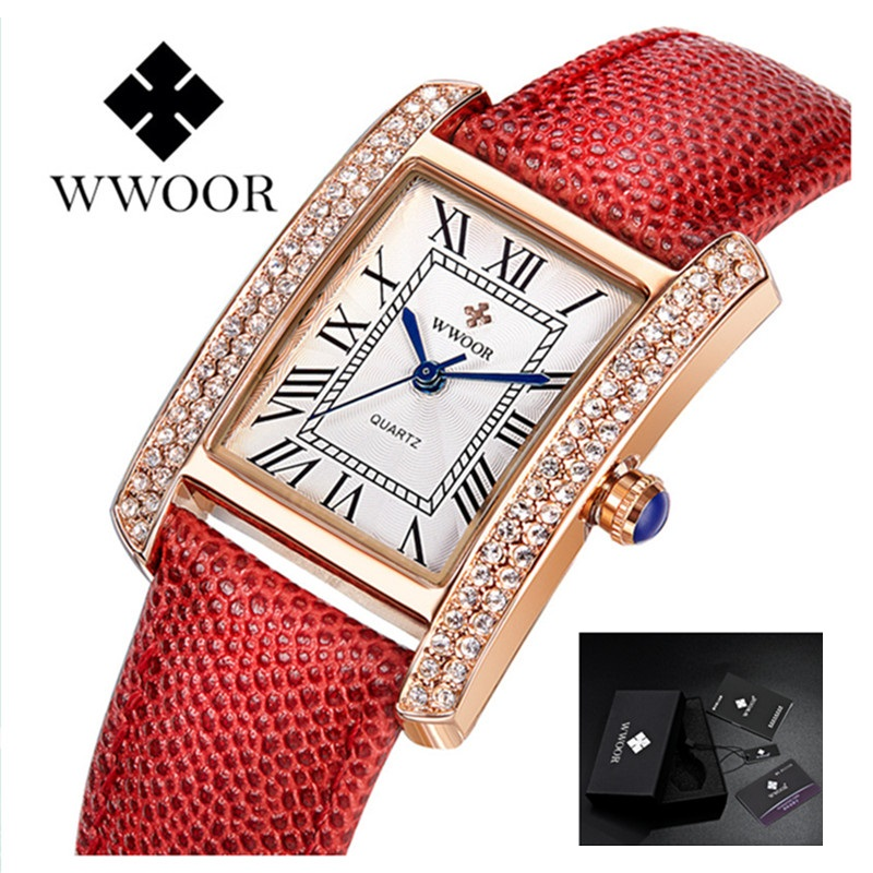Women Watches Ladies New Famous Brand Fashion Luxury Quartz Watch Female Clock Dress Diamonds Relogio Montre WWOOR Reloj Mujer famous brand full diamond luxury women watch lady dress watch rhinestone bling crystal bangle watches female reloj mujer