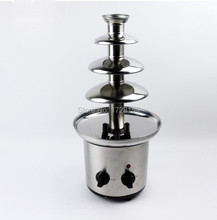 Livraison gratuite Acier Inoxydable 4-niveaux petit mini maison fondue au chocolat fontaine Machine pour Événement De Mariage Enfants D'anniversaire