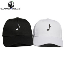 2pcs/set MUSIC NOTE Baseball Hat Embroidered Dad Cap Treble Clef Sheet Musician Best Friends Friendship Distance Lovers Hobby