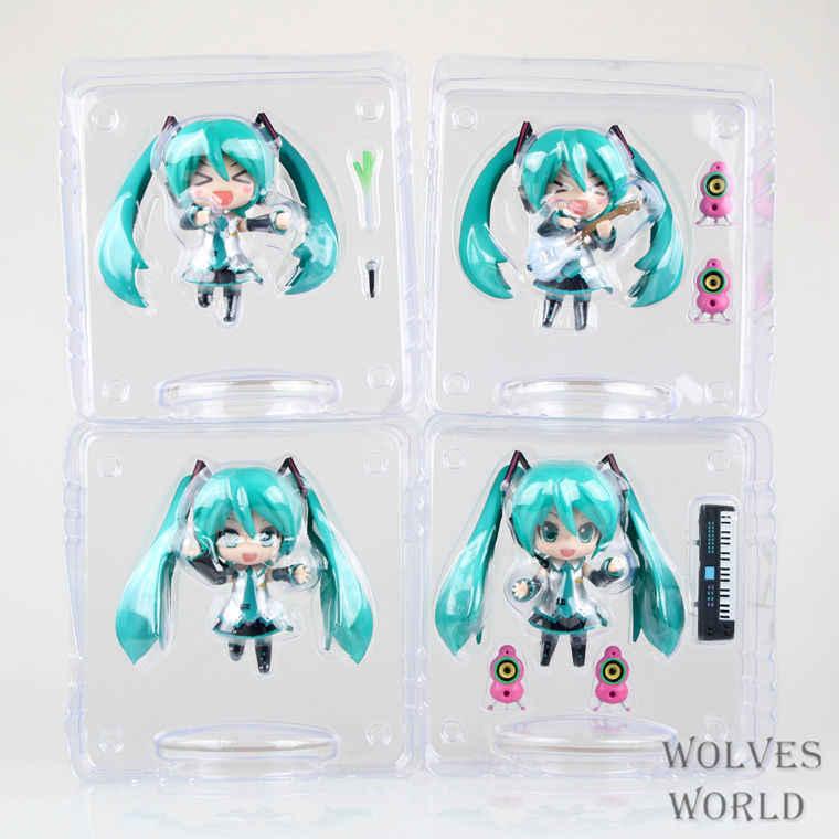 4 Pçs/set Japão Anime Hatsune Miku Figura PVC Figura de Ação Guitar Music Ver. modelo Colecionáveis Brinquedos Crianças Brinquedos Juguetes