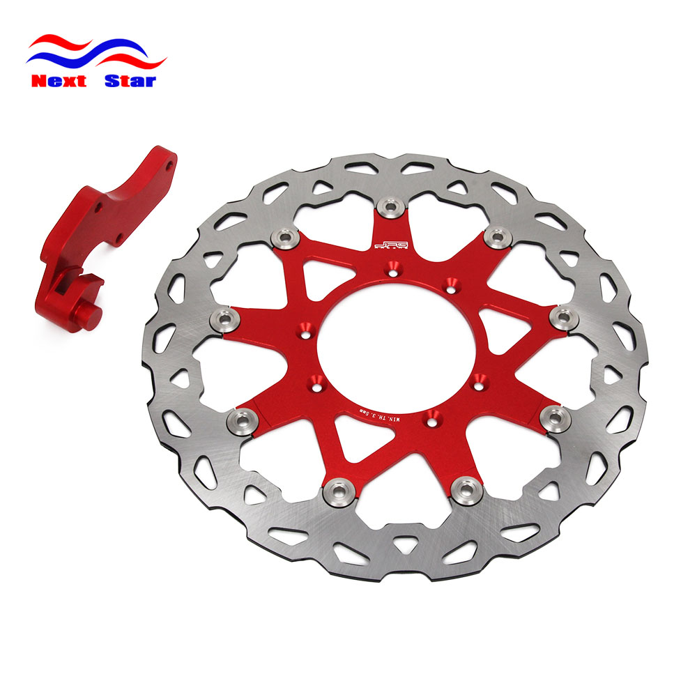 Motorcycle 320 Front Floating Brake Disc Rotor & Adapter Bracket For HONDA CR CRF CR125 CR250 CRF250R CRF250X CRF450X CRF450R cnc for honda crf 250 450 r crf250x crf 450r 450x xr230 motard motorcycle brake clutch lever pivot lever crf450r crf250r crf450x