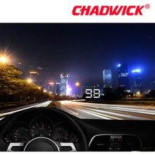 عداد السرعة HUD للسيارات مزود بنظام تحديد المواقع ومقياس السرعة وشاشة عرض علوي رقمي مع إنذار سرعة أعلى للزجاج الأمامي ومزوّد بمنفذ ملاحة تلقائي من تشادويك A5 مع جميع السيارات
