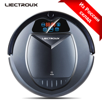 LIECTROUX B3000PLUS Robot Vacuum Cleaner Self Charging HEPA Filter Two Side Brushes Remote Control Designed for Hard Floor