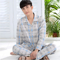 330126/Autumn man pure cotton Pajamas/ Loose/ Comfortable/ soft/ Breathable/ elasticityl/ Quality fabrics