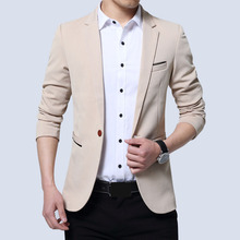 Men's Casual Slim One Button Suit Blazer Fashion New Stylish Formal Coat Jacket Tops Slim Fitted Male Fashion Blazers все цены