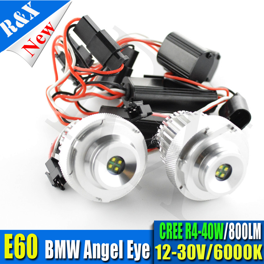 40W LED angel eye marker for BMW E60 E61 LCI car LED Angel Eyes for BMW E60 E61 with Halogen Headlight Non-projector
