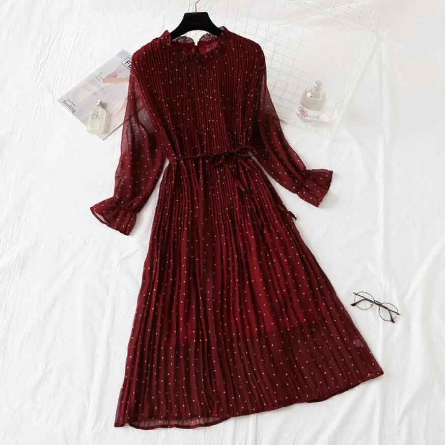 9aece1d21c3ae All kinds of cheap motor chiffon vintage dress women in All B