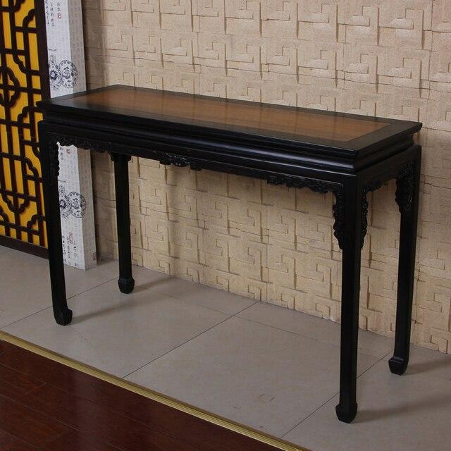 12 doble muebles de caoba largo y estrecho púrpura negro consola de ...