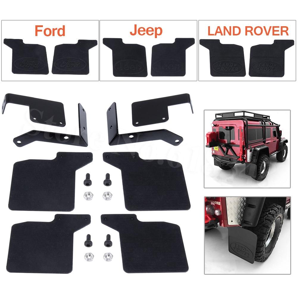 TRX4 delantera y trasera guardabarros de goma guardabarros para 1/10 RC Rock Crawler camión TRAXXAS TRX-4 D110 Land Rover accesorios de Jeep