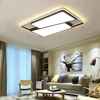 New Design Aluminum Iron Modern Led ceiling lights For Living room Bedroom Foyer led avize black/white ceiling lamp 110V/220V