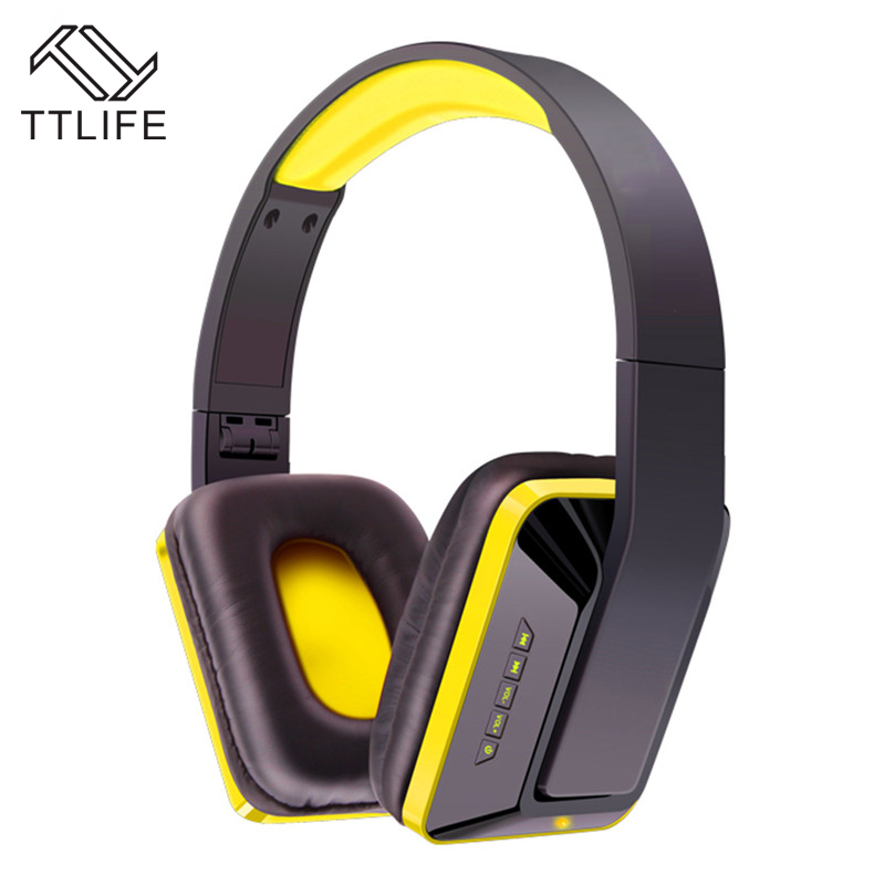 TTLIFE Brand MX111 High Quality Wireless Bluetooth Bass Headband Headphones Stereo Noise Isolating Earphone Headset for MP3 MP4 цена