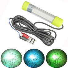 10W/20W COB Underwater Fish Lure Light Night Fishing Attracting Lamp for 12V 24V Boat Ship with 6M Cable