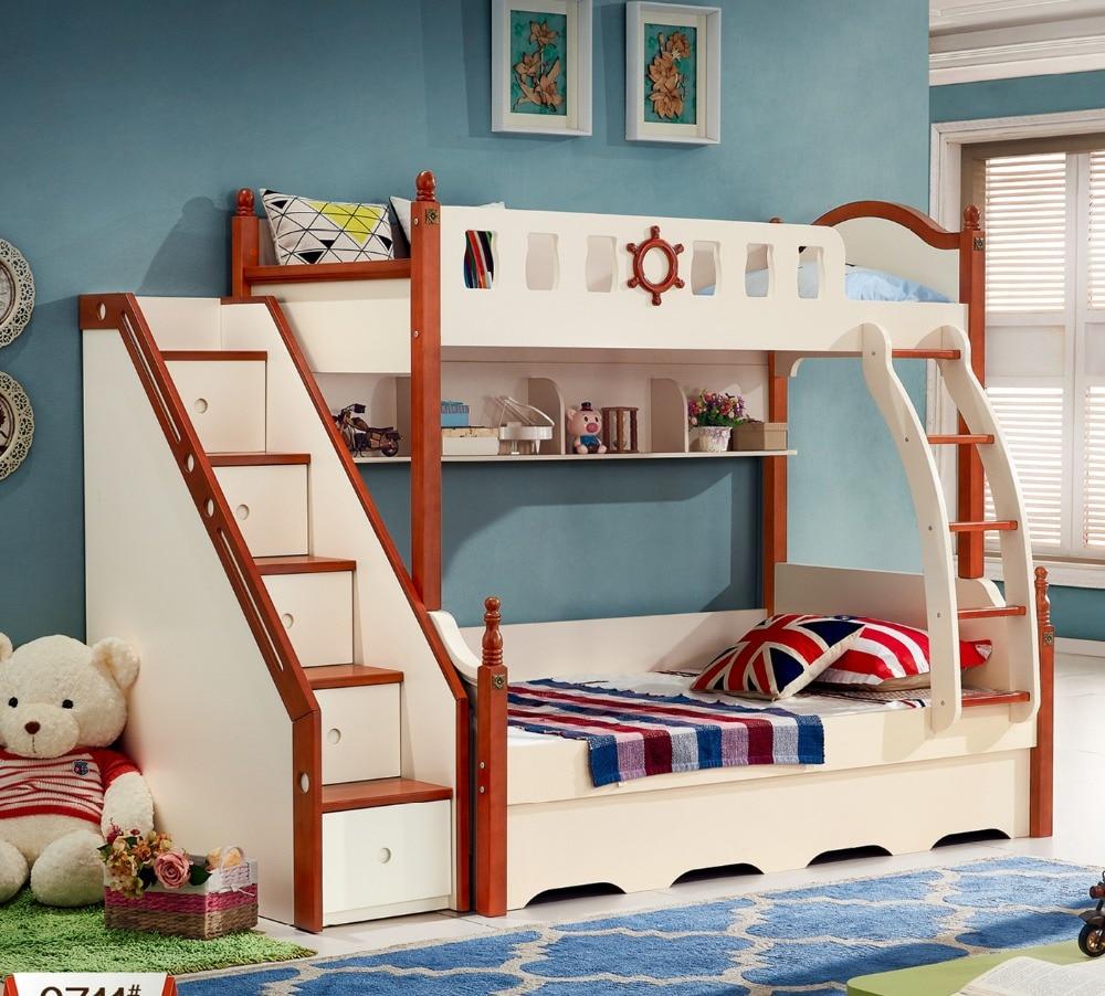 Design moderno camera letto bambini letto a castello 0429 B620 in ...