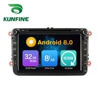 Octa Core 4GB RAM Android 8.0 Car DVD GPS Navigation Multimedia Player Car Stereo for VW GOLF POLO PASSAT JETTA TIGUAN TOURAN
