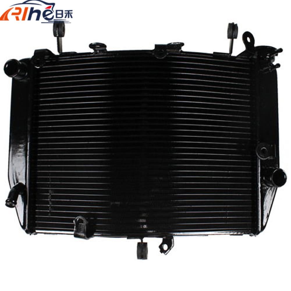motorcycle radiator cooler aluminum motorbike radiator black For Yamaha YZF R6 YZF-R6 2003-2004 R6S 2006 2007 2008 2009 2010