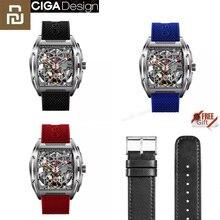 Youpin ciga z série oco para fora relógios de pulso mecânicos relógio de silicone gel moda luxo pulseira de couro automático presente